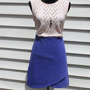 LOFT Ribbed Tulip Hem A Line Skirt - Elastic Waist